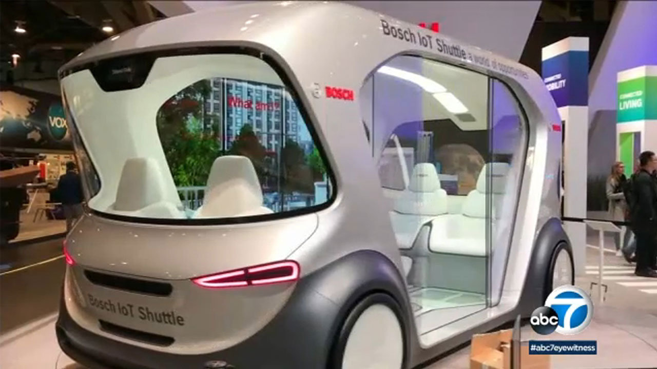 Bosch showed this prototype for a driverless shuttle at the 2019 Consumer Electronics Show in Las Vegas.