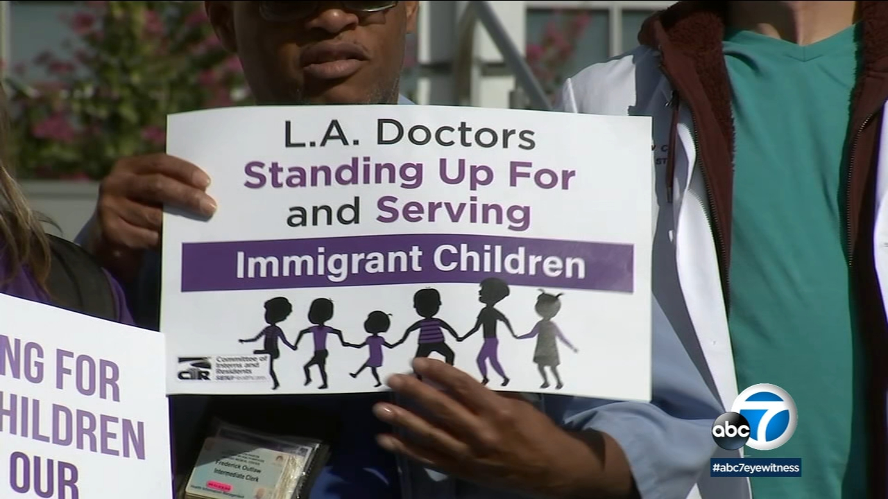 After the deaths of two migrant children at the border, dozens of local doctors and healthcare professionals issued a call for help on the steps of LAC+USC Medical Center.