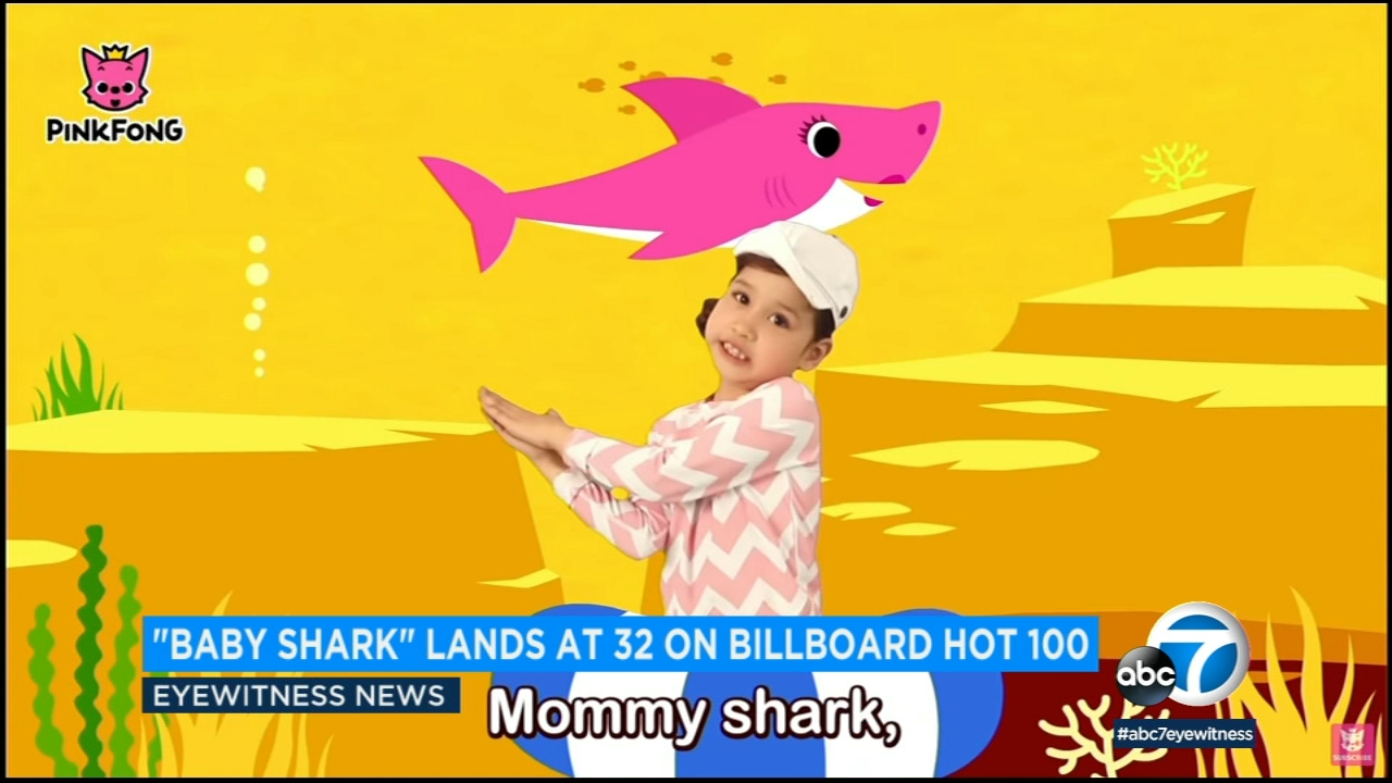 The catchy kids tune Baby Shark has made it onto the Billboard charts after racking up more than 2 billion views on YouTube.