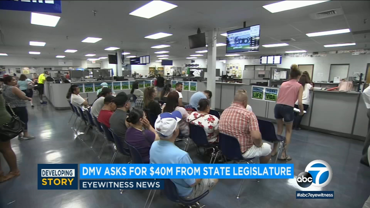 Californians wait at a DMV office in this undated photo.