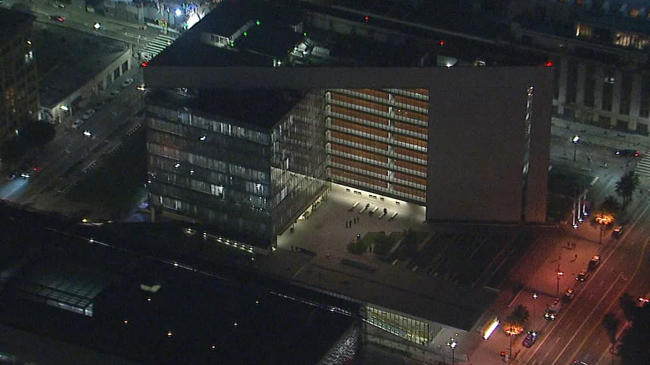The Los Angeles Police Department evacuated its downtown headquarters after a suspicious package was found in the mail room on Thursday, Jan. 10, 2019.