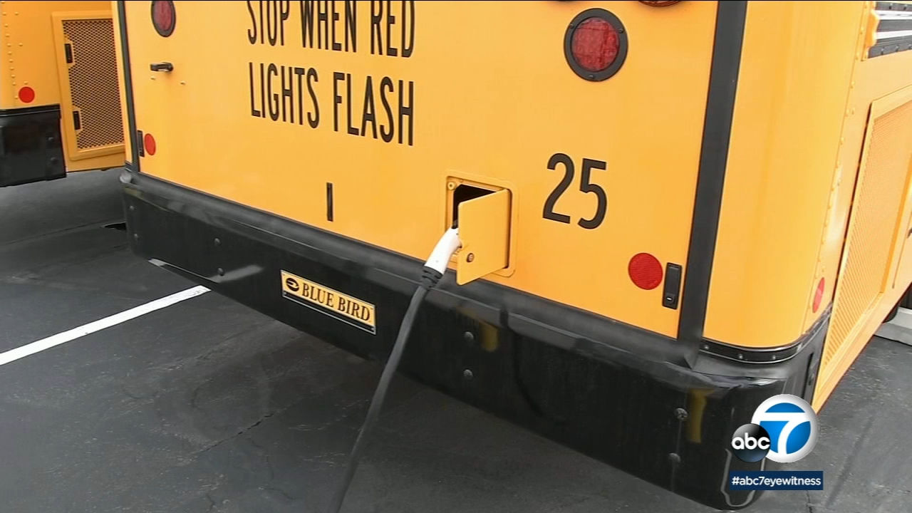Fontana Unified School District is debuting two new all-electric school buses with a range of about 100 miles per charge, in partnership with So Cal Edison.