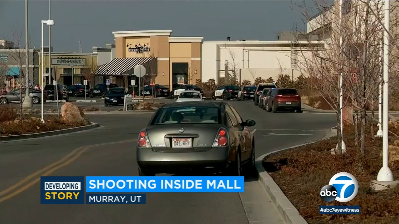 Authorities say a gunman opened fire at a mall in a suburb of Salt Lake City and two people were wounded.