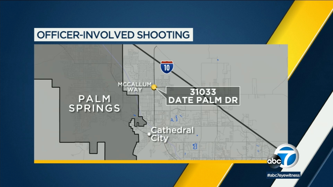Authorities say a suspect who killed a woman was fatally shot by a police officer in Cathedral City.