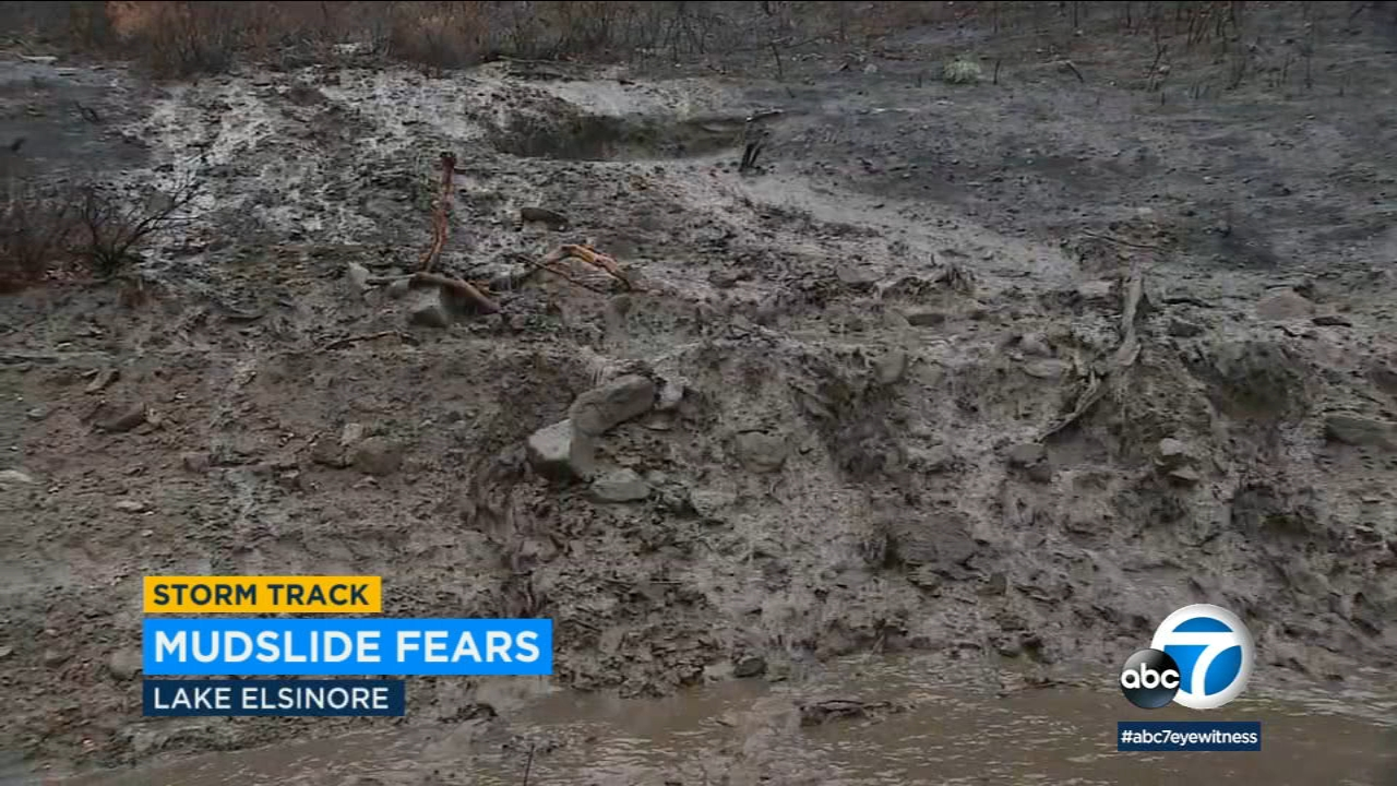 Areas of Lake Elsinore impacted by the Holy Fire are preparing for possible mudslides amid this weeks rainstorms.