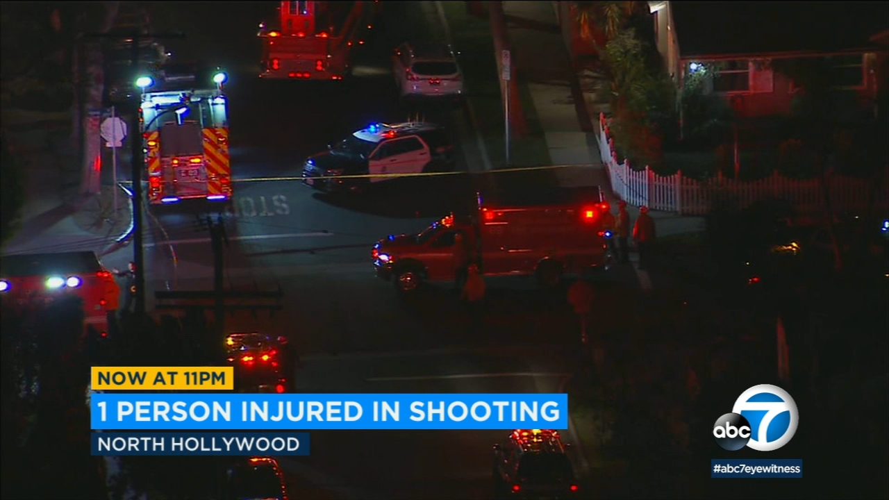 One person was injured in a gang-related shooting in North Hollywood Monday night.