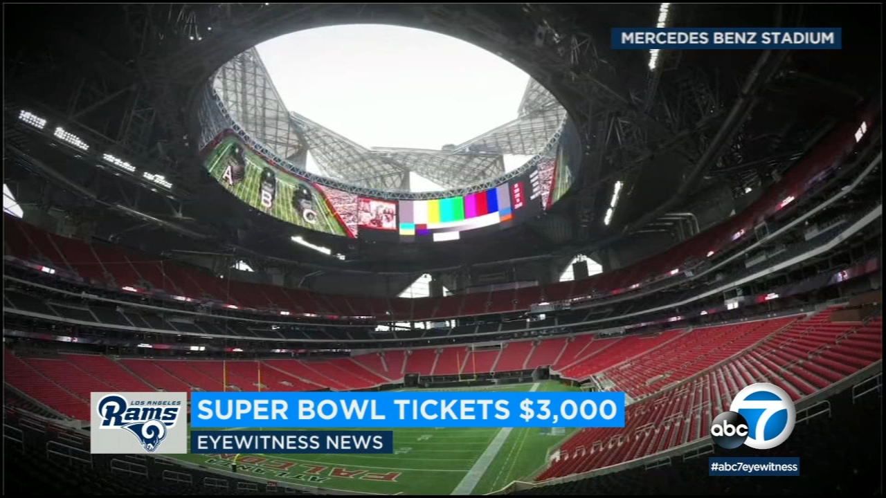Seeing the Rams play the New England Patriots live at Super Bowl LIII will cost at a minimum $3,000 per seat.