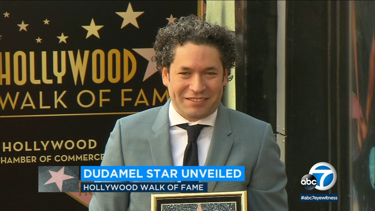 LA Philharmonic conductor Gustavo Dudamel was honored with a star on the Hollywood Walk of Fame.