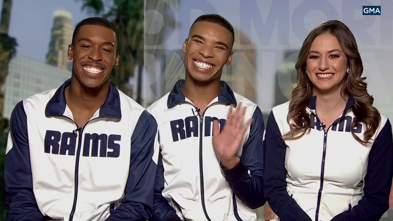Los Angeles Rams cheerleaders appeared on Good Morning America on Thursday, Jan. 24, 2019.