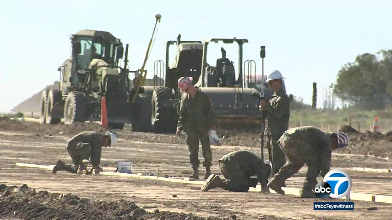 Airport in the Sky on Catalina Island is closed to private aircraft as Marines and Navy Seabees work to rebuild a runway.