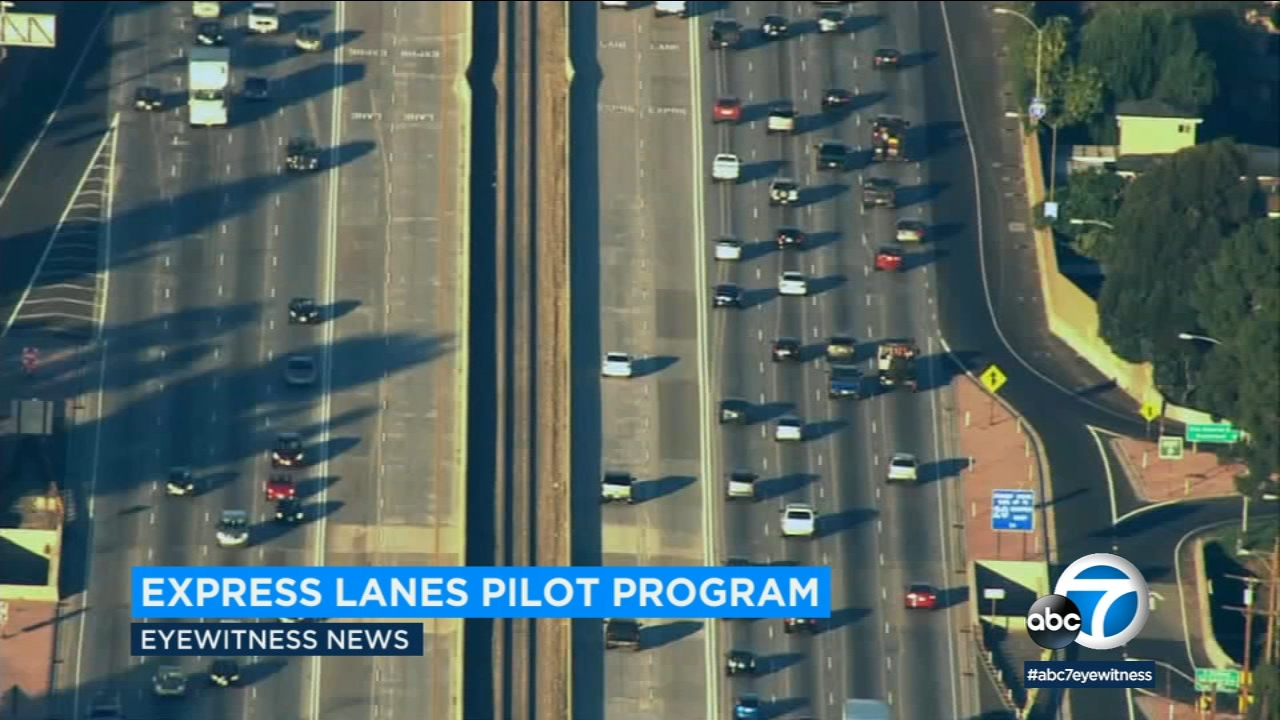 Drivers will be able to pay for using the ExpressLanes on the Harbor and San Bernardino freeways without a transponder under a new one-year pilot program.