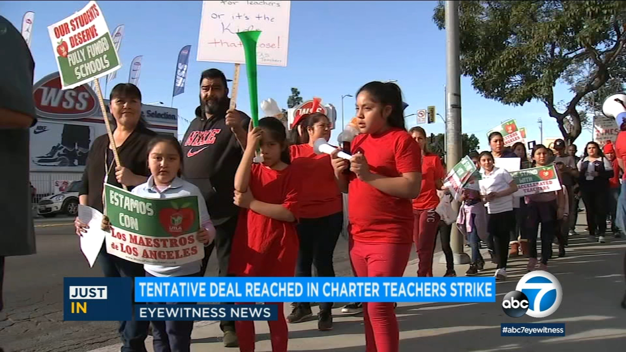 Teachers at the Accelerated charter school network in South LA have reached a tentative agreement to end their strike.