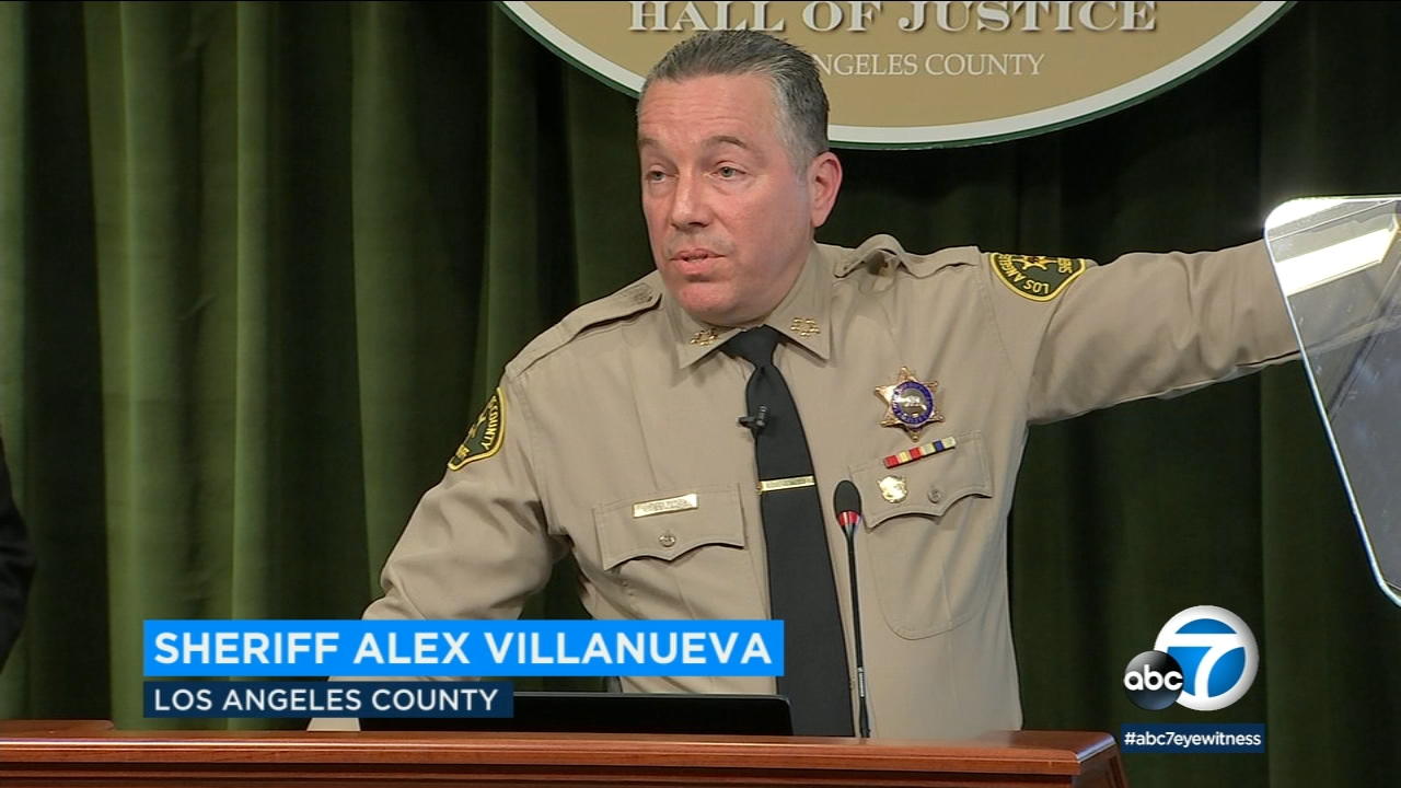 Sheriff Alex Villanueva dismissed criticism over his rehiring of a deputy accused of domestic violence as grandstanding by career politicians.