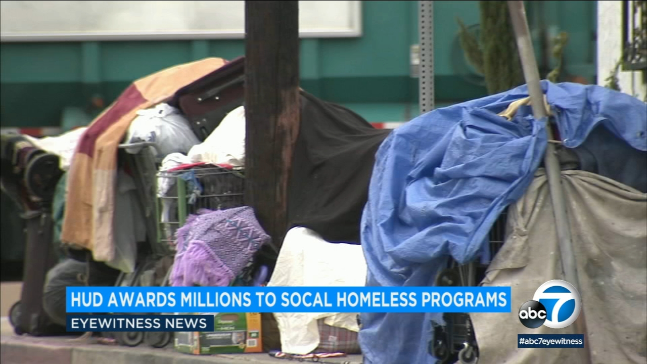 File photo shows homeless in Los Angeles.
