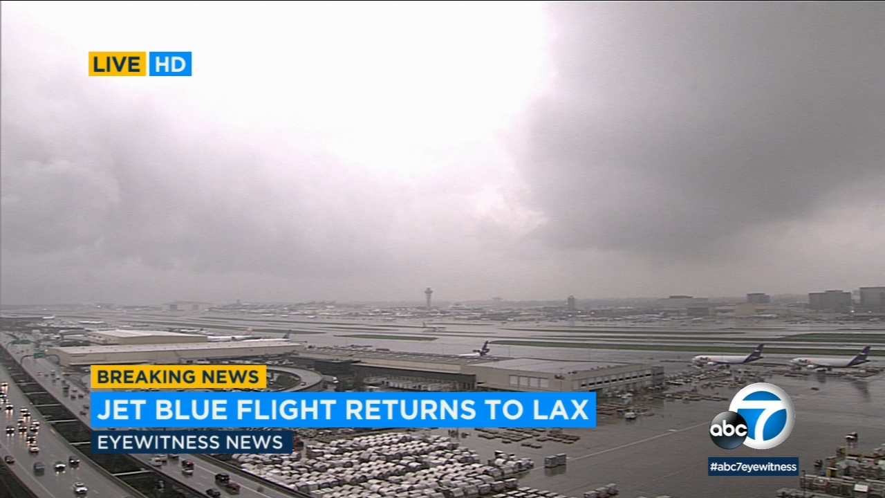 A JetBlue flight was returned to Los Angeles International Airport on Thursday, January 31, 2019, after the crew onboard reported a possible lightning strike.