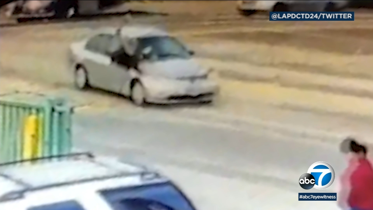 A brazen hit-and-run in Boyle Heights was caught on camera, and police released video of the incident to help find the suspect.