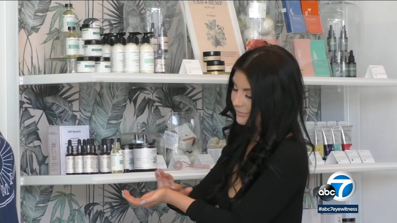 More boutiques and pop-ups shops are offering CBD oil for skin treatment and pain management.