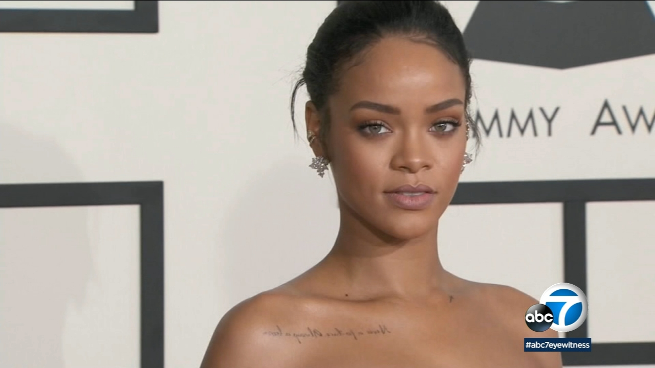 This is an undated photo of singer Rihanna.