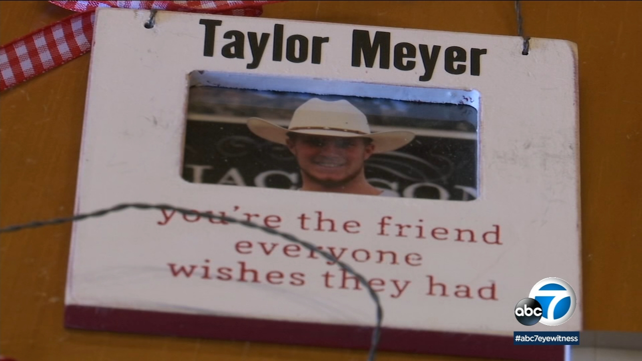 A frame shows an undated photo of Taylor Meyer.