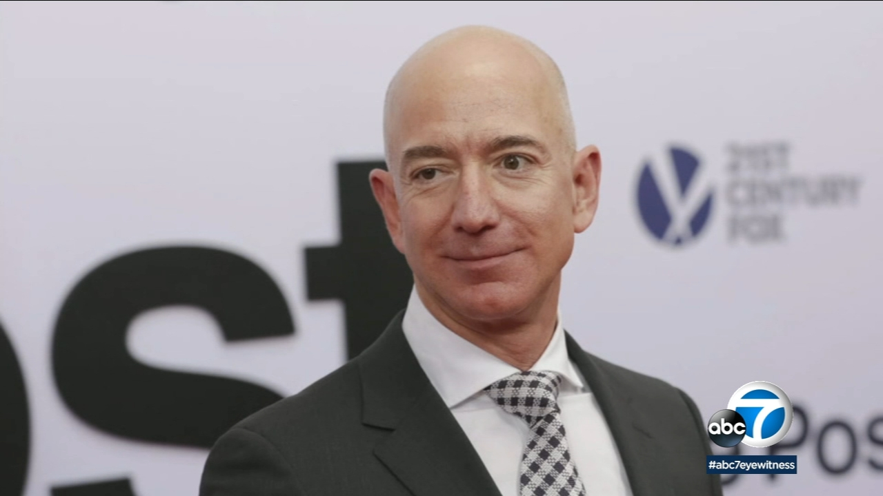 This is an undated file photo of Amazon CEO Jeff Bezos.