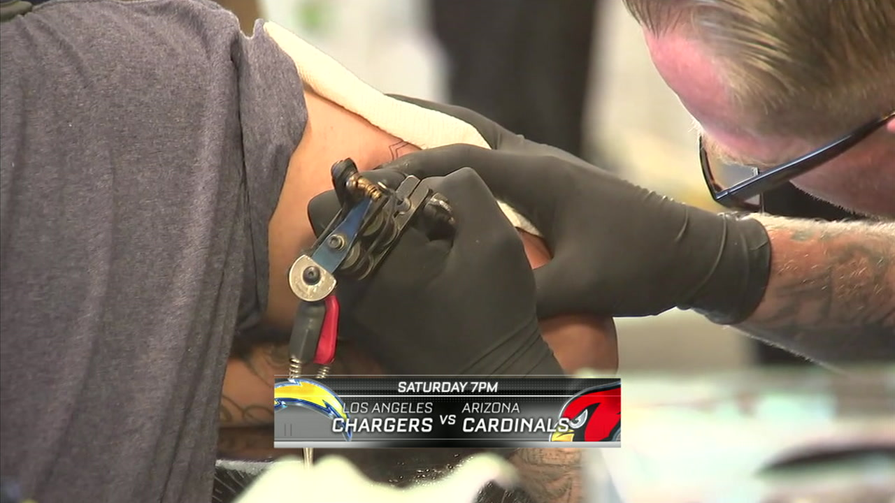 Chargers pay for fan tattoos in West Hollywood