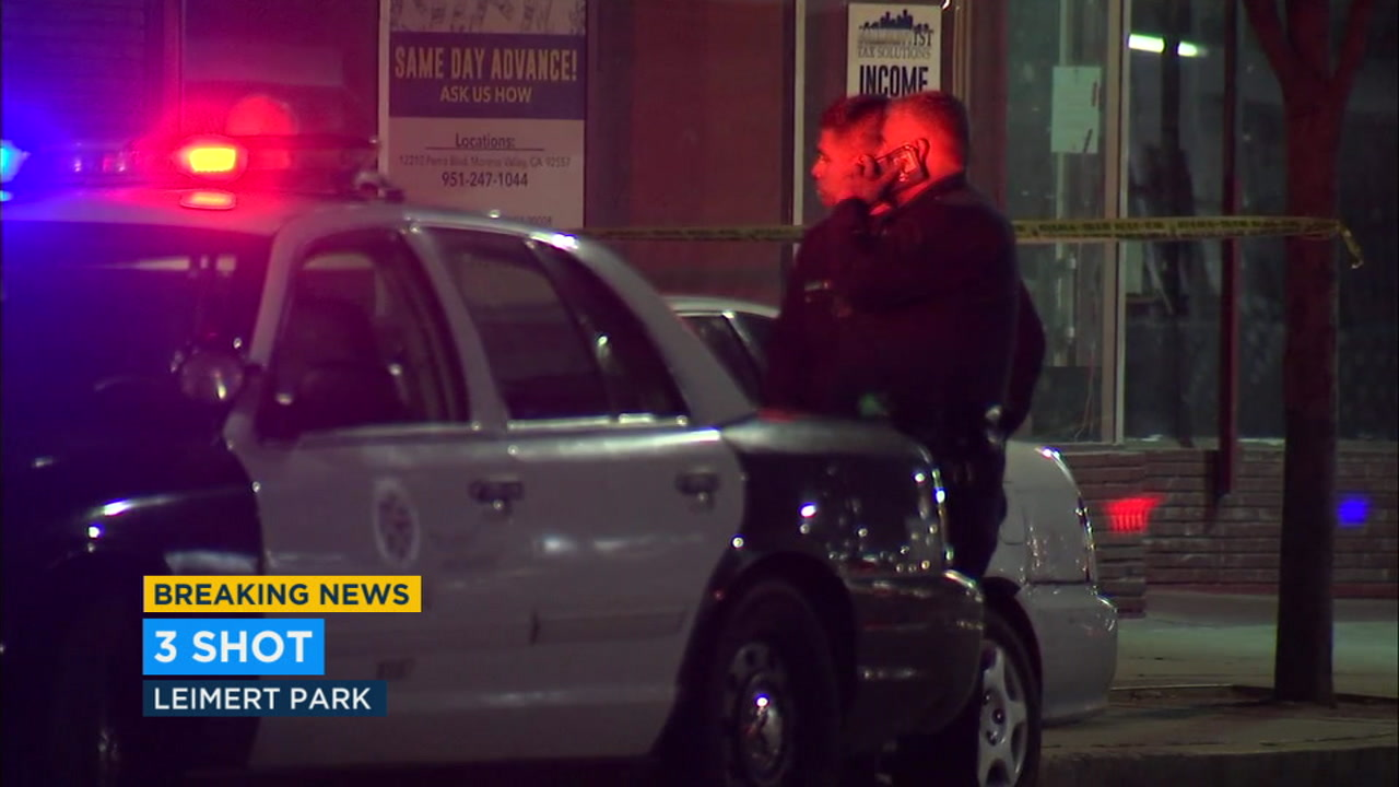 3 male victims hospitalized following LA shooting