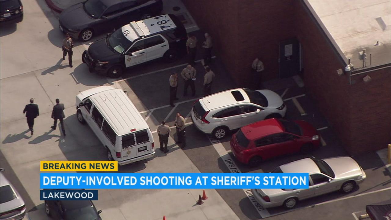 Deputies shoot suspect inside Lakewood sheriffs station after he steals taser