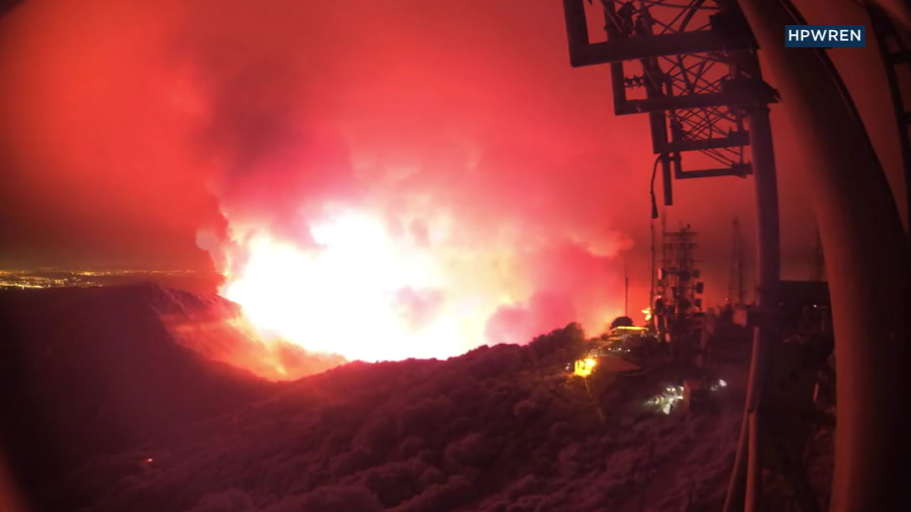 VIDEO: Time-lapse footage shows Holy Fire progression