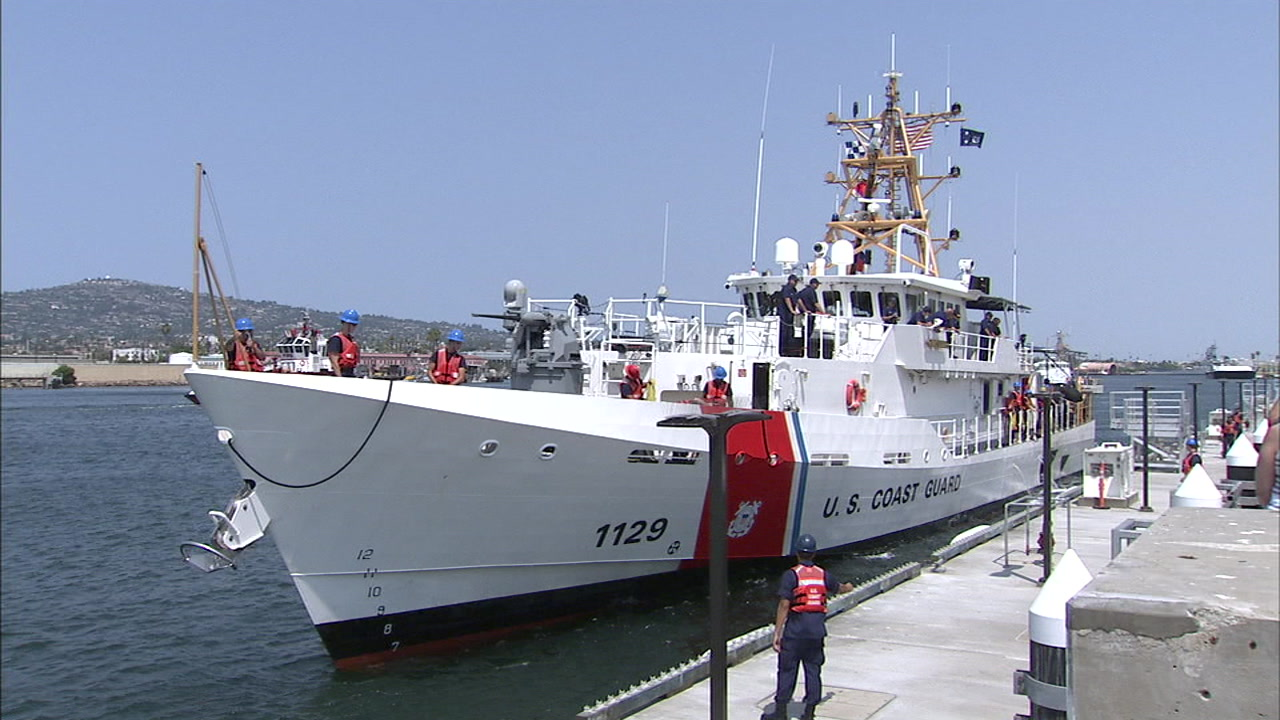 New Coast Guard fast-response ship arrives for duty in San Pedro