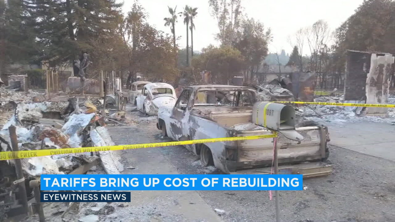 Trump tariffs affecting California fire victims seeking to rebuild