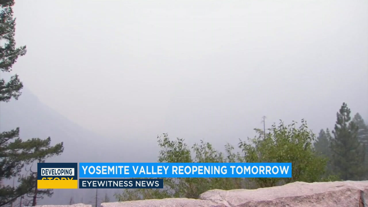 Yosemite Valley to reopen following Ferguson Fire