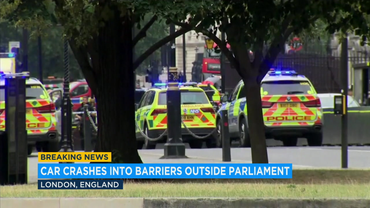 Car crashes into pedestrians in London, man arrested on suspicion of terrorism