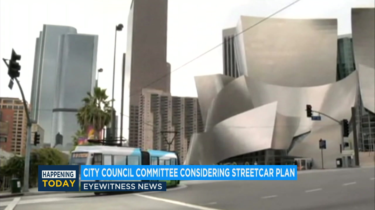 The Los Angeles City Council is studying a plan to build a four-mile streetcar line through downtown that would cost about $590 million.