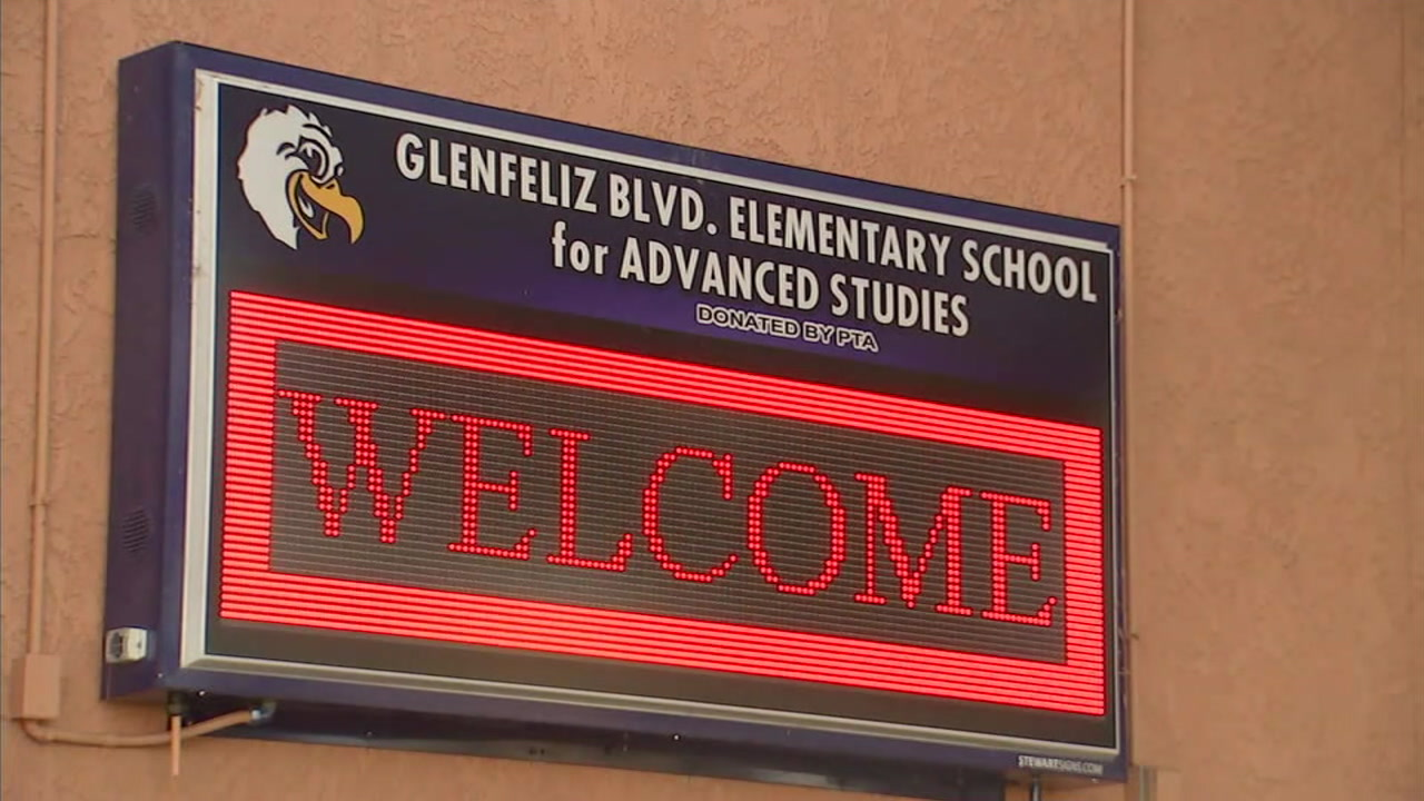 A sign at Glenfeliz Blvd. Elementary School is seen on Tuesday, Aug. 14, 2018.