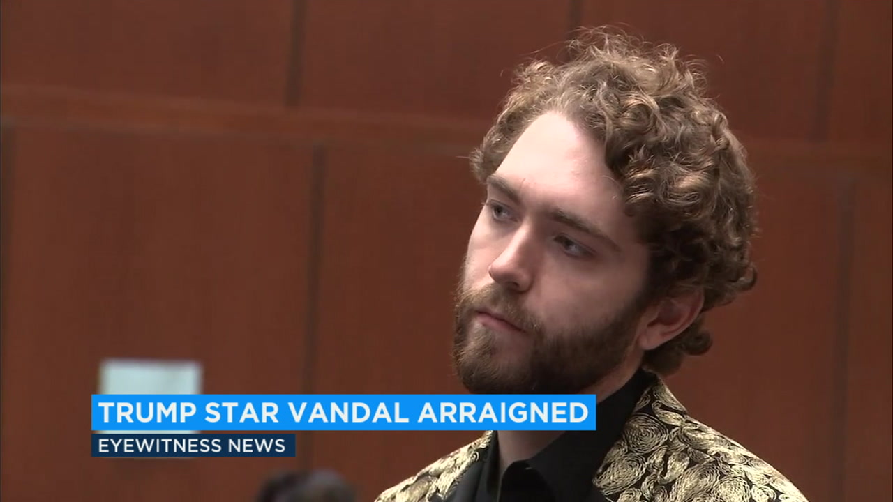 Hollywood Walk of Fame: Suspect pleads not guilty to destroying Trumps star, speaks out