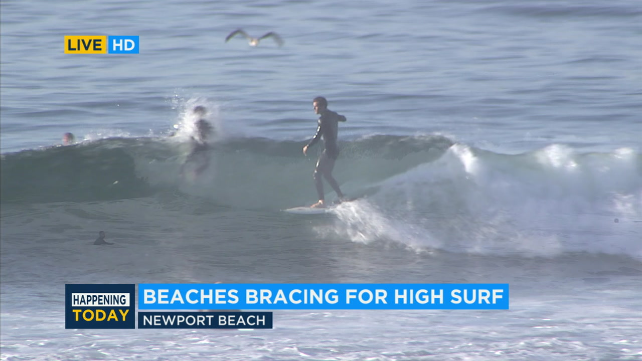 Dangerous surf conditions expected for beaches in Orange, LA counties