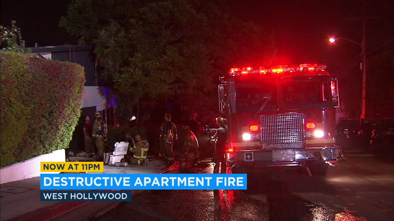 Fire destroys part of West Hollywood apartment building
