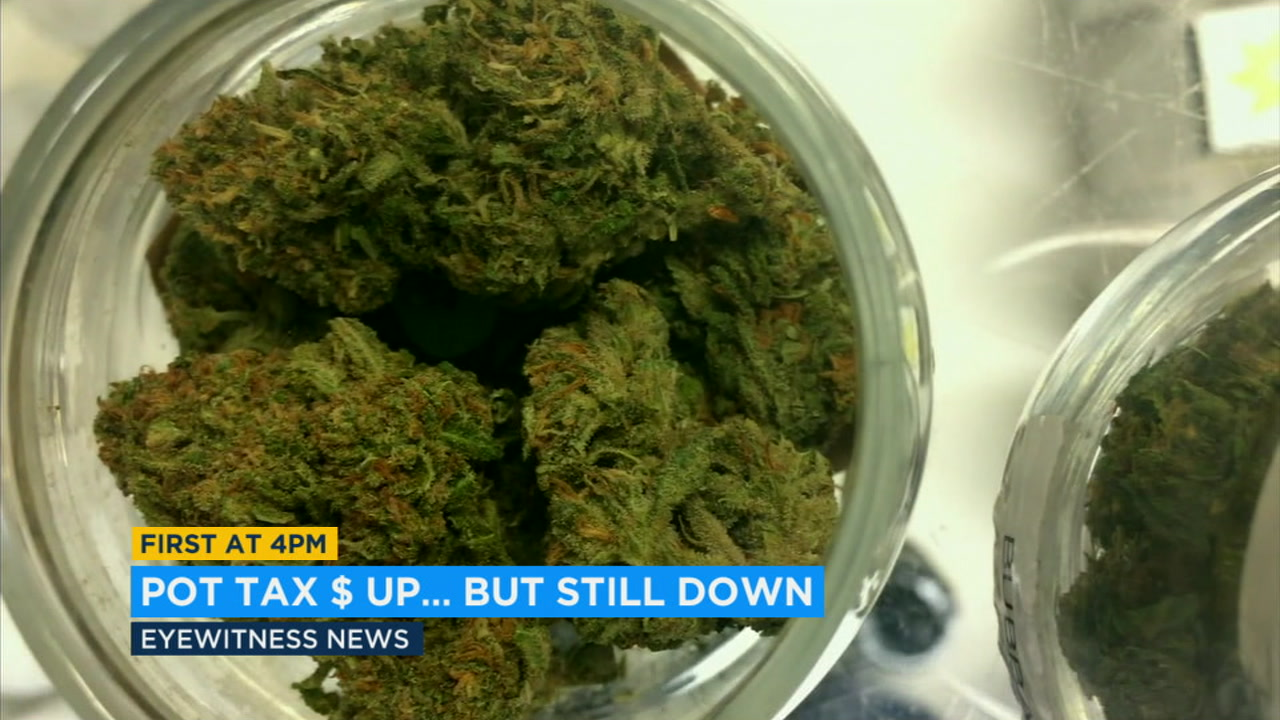 Marijuana tax revenue lagging behind expectations in California