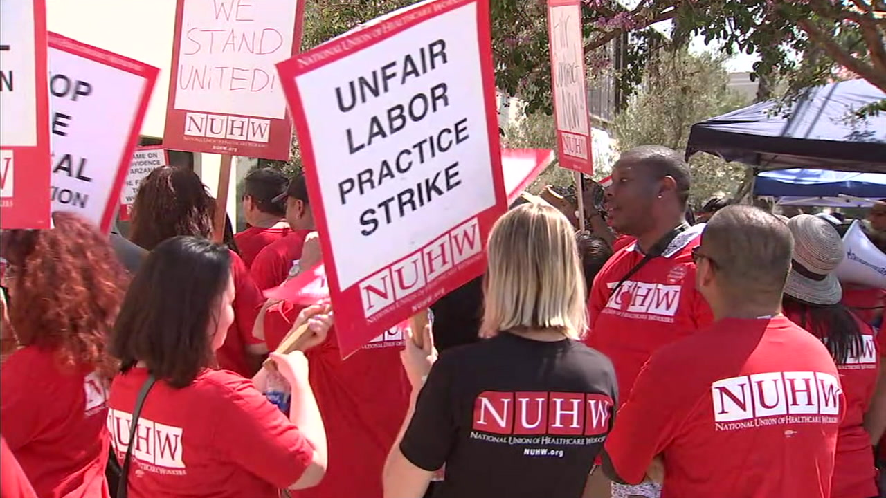 Tarzana hospital workers hold 1-day strike, cant return to work for 5
