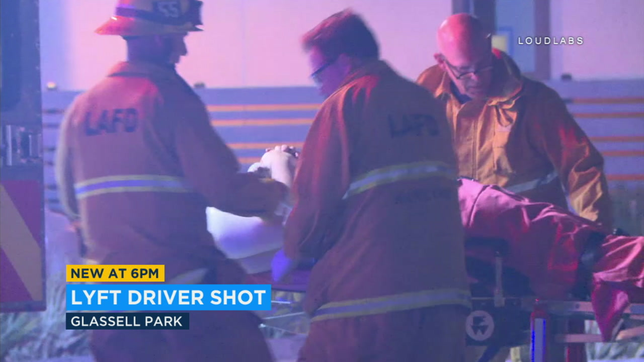 A Lyft driver is recovering after being shot in Los Angeles while driving - with passengers in the car.