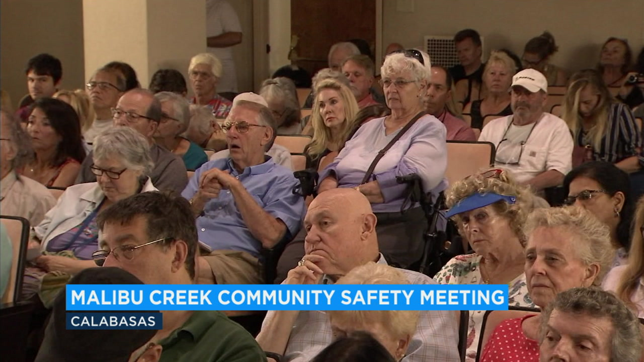 Concerned residents packed the house at a meeting to discuss safety at Malibu Creek State Park following the shooting of a man at a campground there earlier this year.