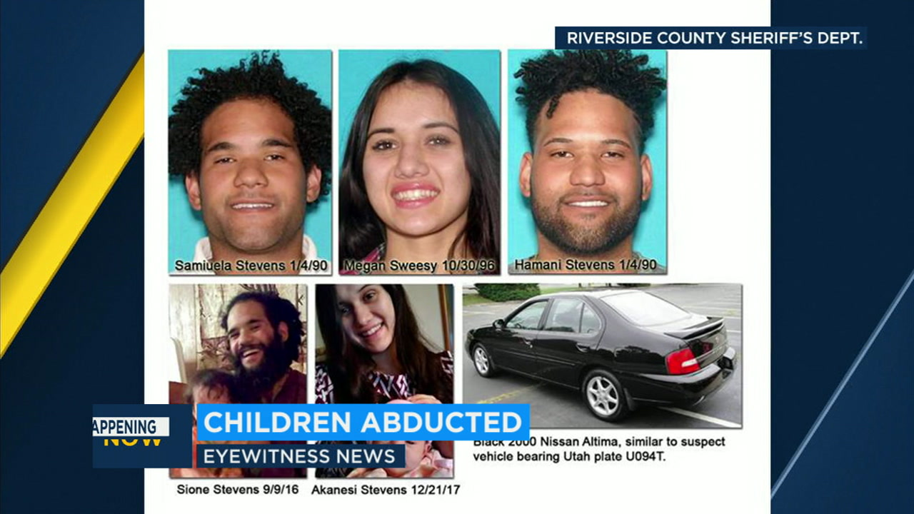 Authorities are looking for two young children who were abducted from their grandparents home in Hemet by their own parents, who do not have custody rights.