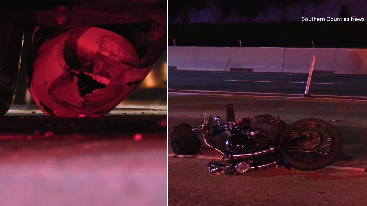 A motorcyclist is dead after an overnight crash on the westbound 91 Freeway in Anaheim.
