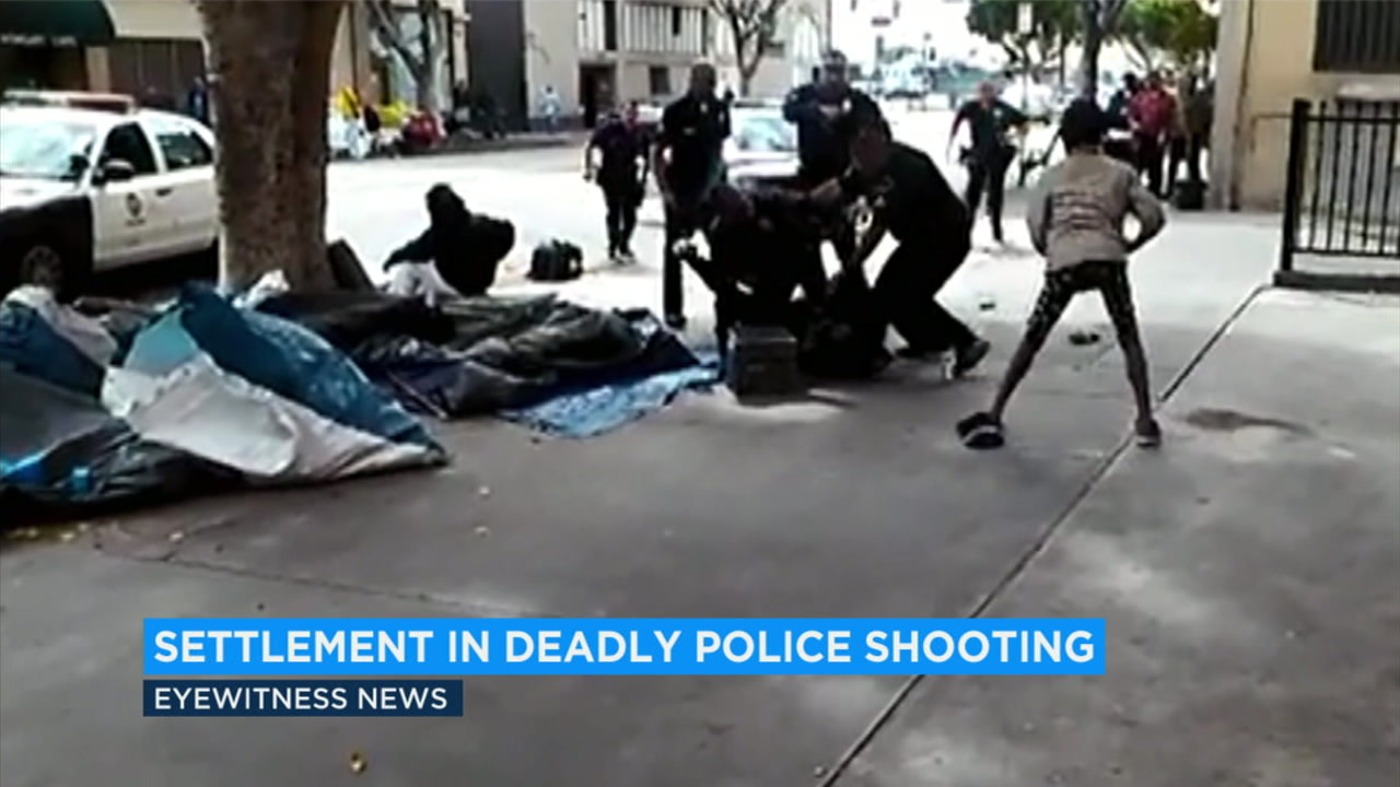 The Los Angeles City Council has reached a $1.9 million settlement with the family of a homeless man who was shot and killed by police in a confrontation on Skid Row.