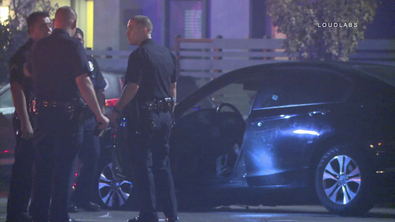 Police are investigating a car-to-car shooting that left a Lyft driver shot in the head while two passengers were in his vehicle.
