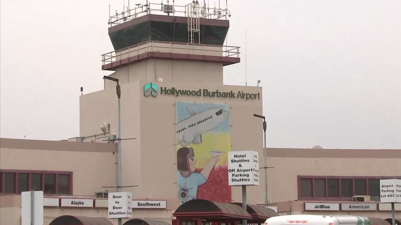 The Hollywood Burbank Airport is shown in a photo.