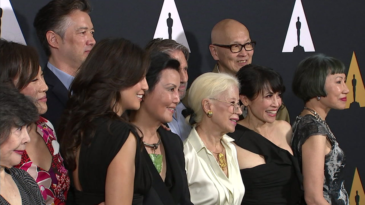Cast members from The Joy Luck Club smiled and took photos as they celebrated the movies 25-year anniversary.