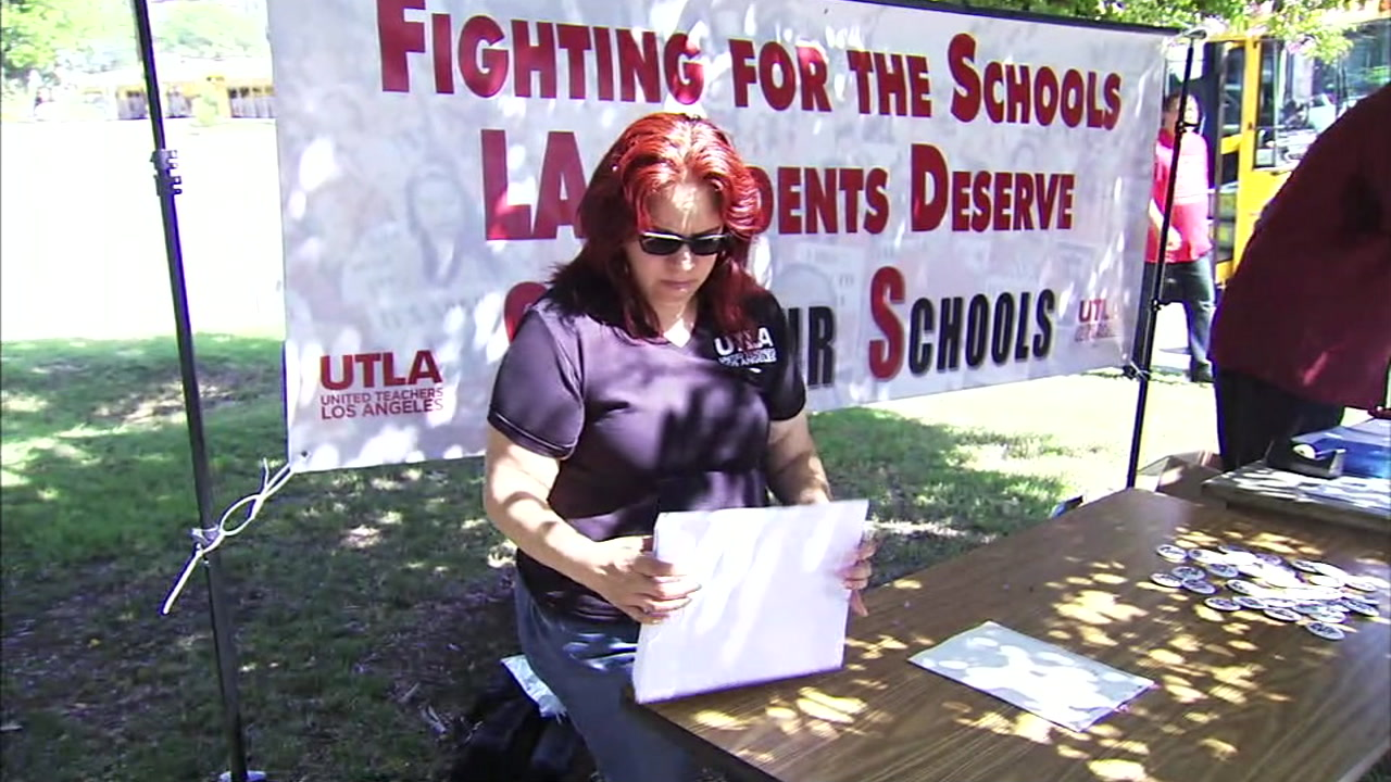 Los Angeles teachers are casting their votes on whether or not to possibly go on strike.