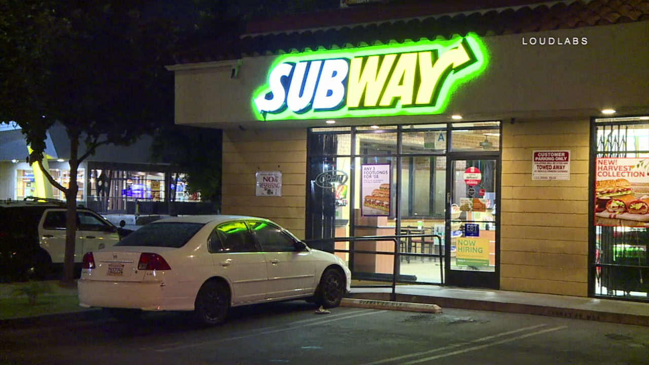 A Subway restaurant on the 2800 block of Crenshaw Boulevard in the Jefferson area of Los Angeles is pictured.