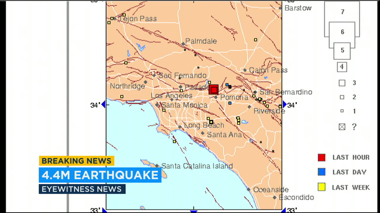 A magnitude 4.4 earthquake hit near LaVerne and was felt all over the Southland.
